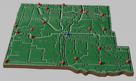 Cass County Cities Map